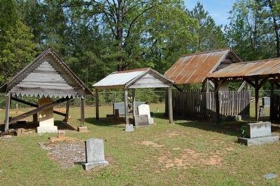 Talbert-Pierson Cemetery Grave Houses image. Click for full size.