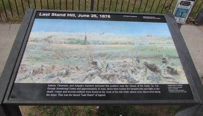Last Stand Hill, June 25, 1876 Marker image. Click for full size.