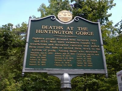 Huntington Gorge Marker image. Click for full size.