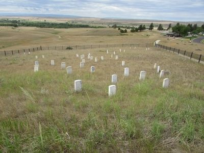 Graves on Last Stand Hill image. Click for full size.