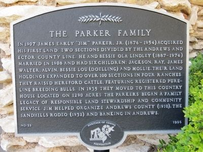 The Parker Family Marker image. Click for full size.