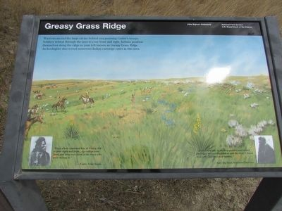 Greasy Grass Ridge Marker image. Click for full size.
