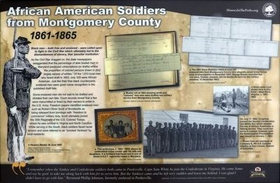 African American Soldiers from Montgomery County Marker image. Click for full size.