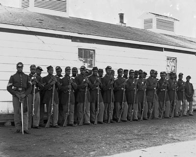 Company E. 4th USCI at Fort Lincoln image. Click for full size.