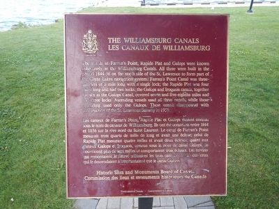 The Williamsburg Canals Marker image. Click for full size.