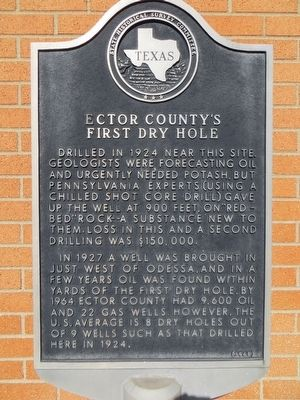 Ector County's First Dry Hole Marker image. Click for full size.