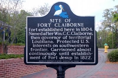 Site of Fort Claiborne Marker image. Click for full size.