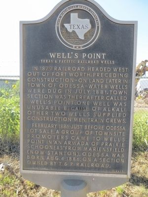 Well's Point Marker image. Click for full size.