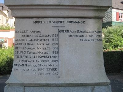Honfleur War Memorial Marker image. Click for full size.