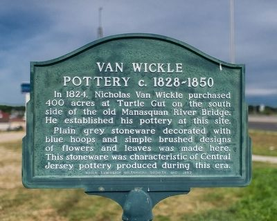 Van Wickle Pottery Marker image. Click for full size.