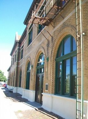 Chicago, Burlington, and Quincy Railroad Depot and Marker image. Click for full size.