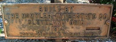 Turntable Builder Marker at C. B. & Q. Railroad Depot image. Click for full size.