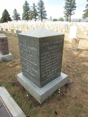 Memorial in Custer National Cemetery image. Click for full size.