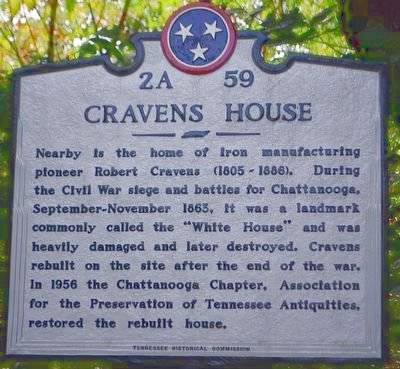 Cravens House Marker image. Click for full size.