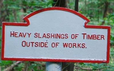 Heavy Slashings of Timber Marker image. Click for full size.