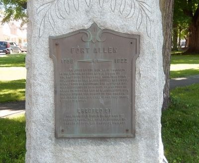 Fort Allen Marker image. Click for full size.