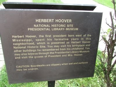 Herbert Hoover National Historic Site Marker image. Click for full size.