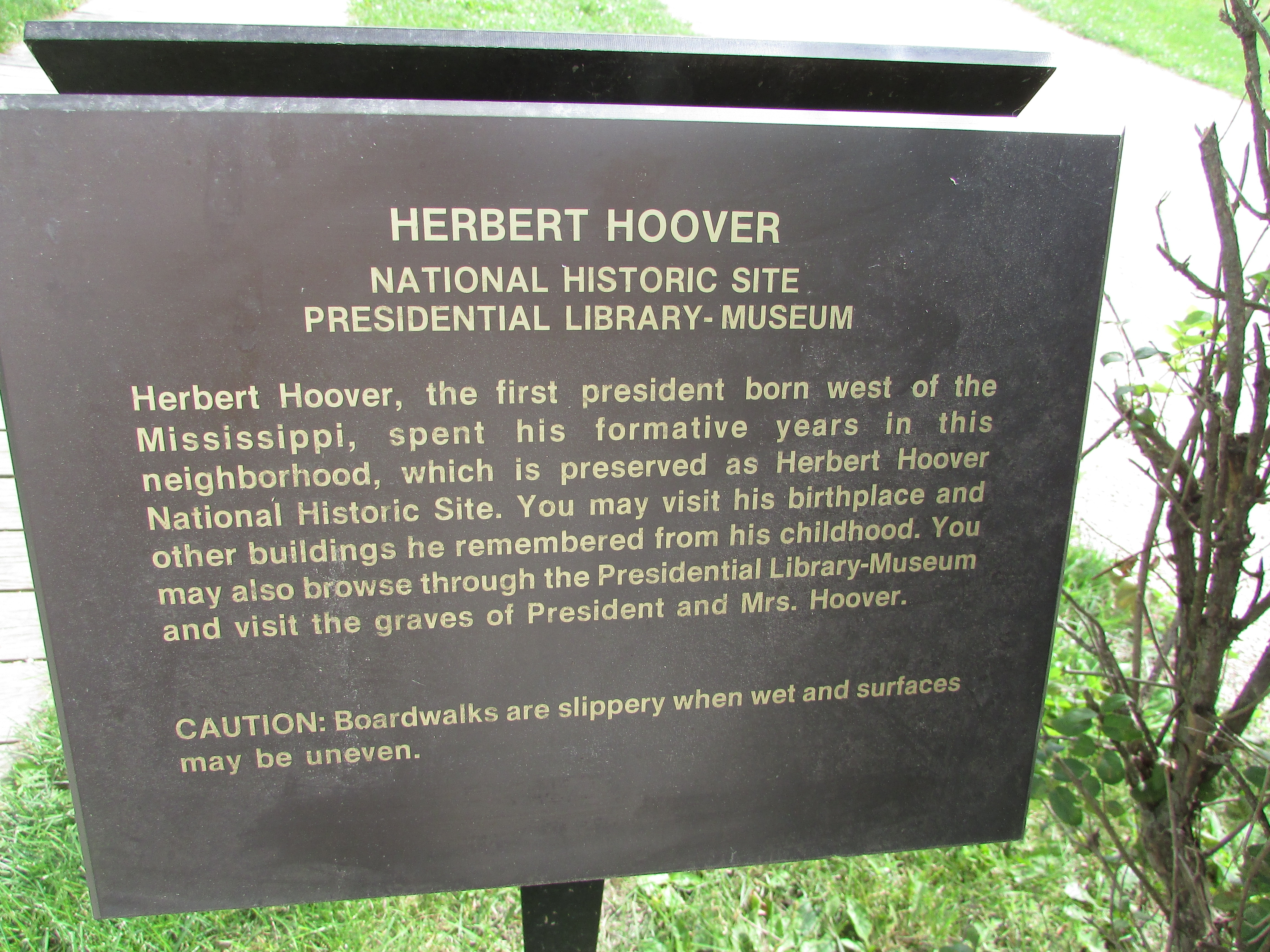 Herbert Hoover National Historic Site Marker