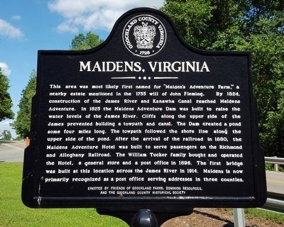 Maidens, Virginia Marker image. Click for full size.