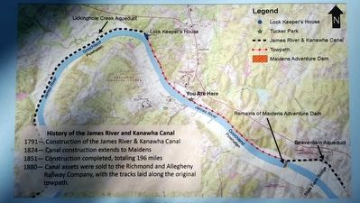 History of the James River and Kanawha Canal image. Click for full size.