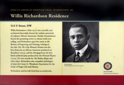 Willis Richardson Residence Marker image. Click for full size.