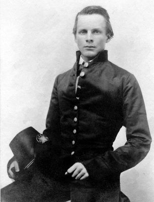 John Pelham in West Point Uniform, With Hat image. Click for full size.