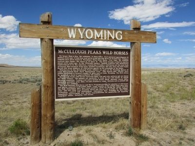 McCullough Peaks Wild Horses Marker image, Touch for more information