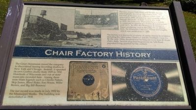 Chair Factory History Marker image. Click for full size.