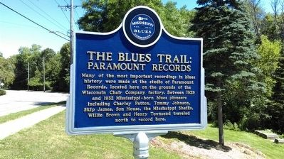 The Blues Trail: Paramount Records Marker image. Click for full size.