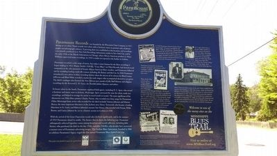 The Blues Trail: Paramount Records Marker Side B image. Click for full size.