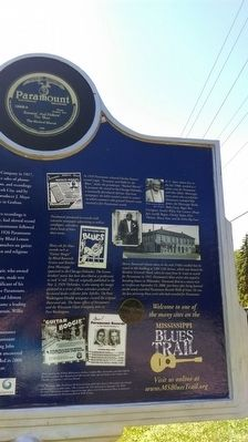 The Blues Trail: Paramount Records Marker Photos image. Click for full size.