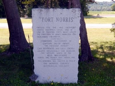 This Fort Norris Marker is next to the other Fort Norris Marker image. Click for full size.
