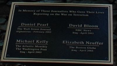 Journalists Who Gave Their Lives Marker image. Click for full size.