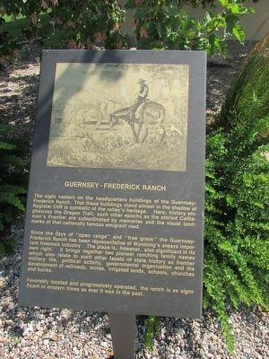 Guernsey – Frederick Ranch Marker image. Click for full size.