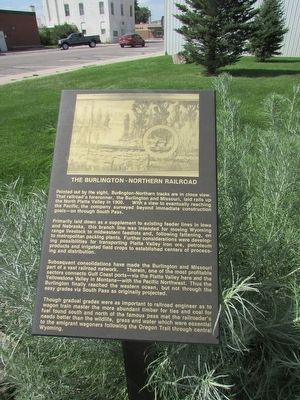 The Burlington – Northern Railroad Marker image. Click for full size.