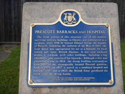 Prescott Barracks and Hospital Marker image. Click for full size.
