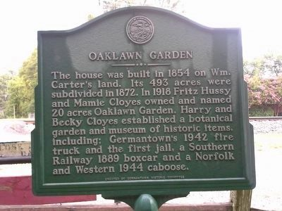 Oaklawn Garden Marker image. Click for full size.