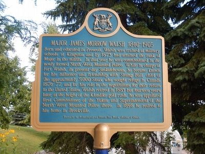 Major James Morrow Walsh Marker image. Click for full size.