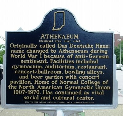 Anthenaeum Marker image. Click for full size.