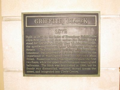 Griffith Block Marker image. Click for full size.