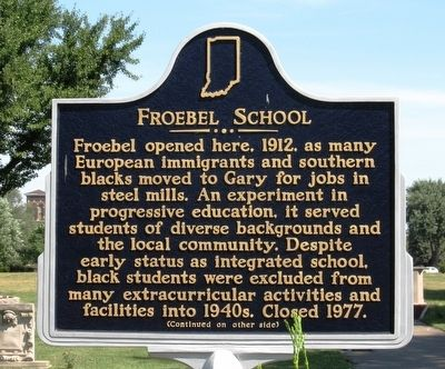 Froebel School Marker image. Click for full size.