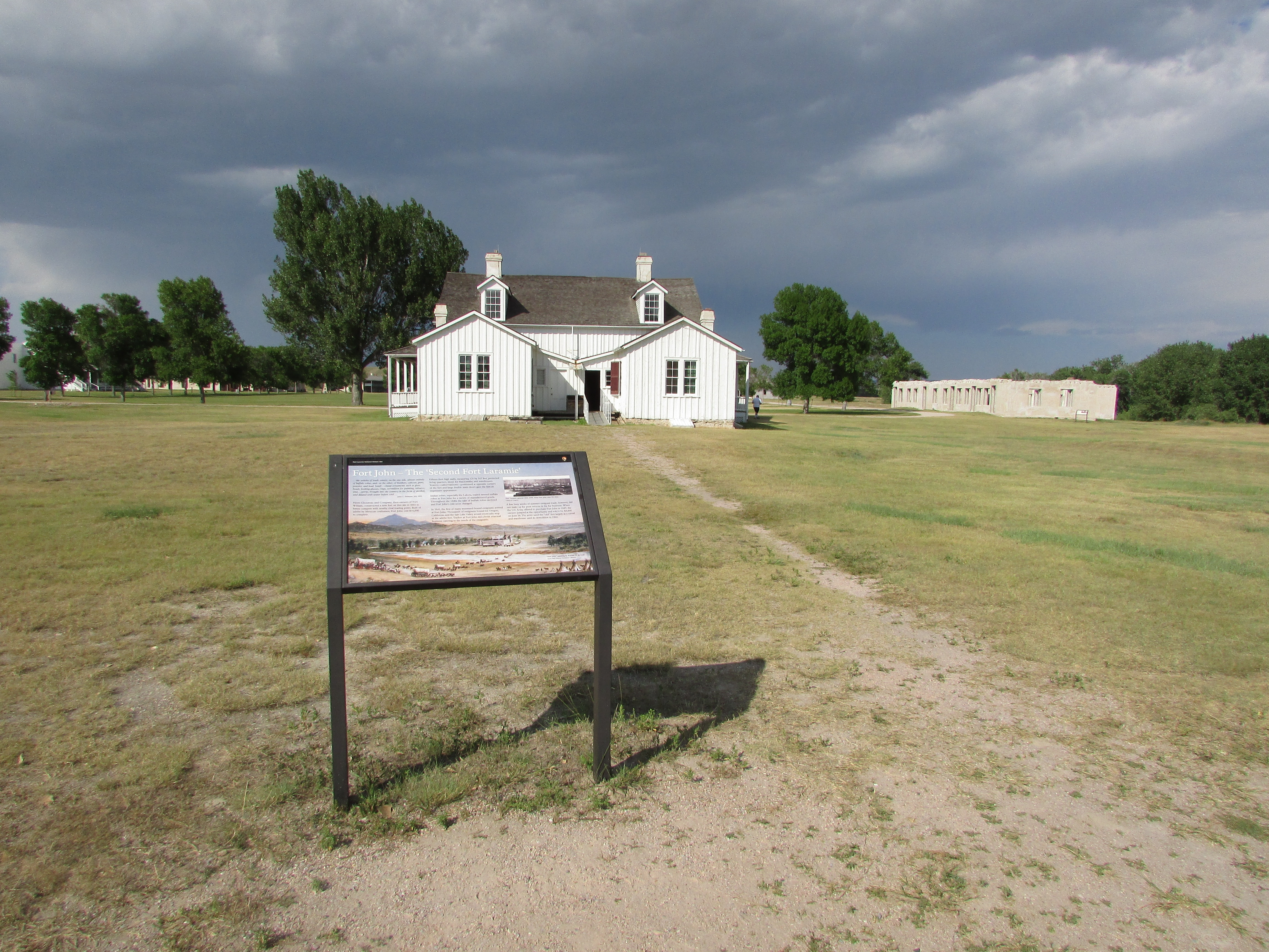 Marker at Fort Laramie