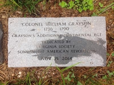 William Grayson Marker image. Click for full size.