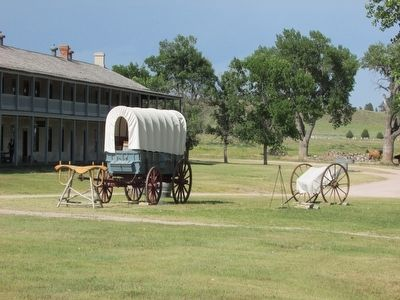Handcarts at Fort Laramie image. Click for full size.