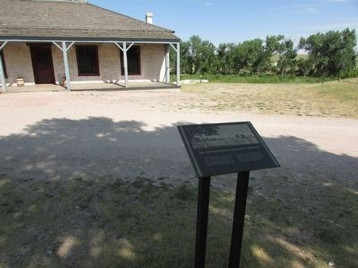 "The ""New"" Guardhouse and Adjacent Barracks Marker image. Click for full size."