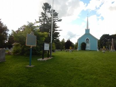 Wideview of The Blue Church Marker image. Click for full size.