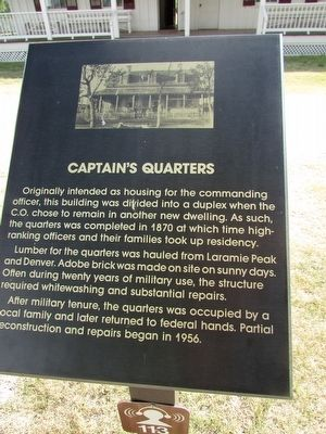 Captain's Quarters Marker image. Click for full size.
