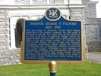 Senator George T. Fulford Marker image. Click for full size.