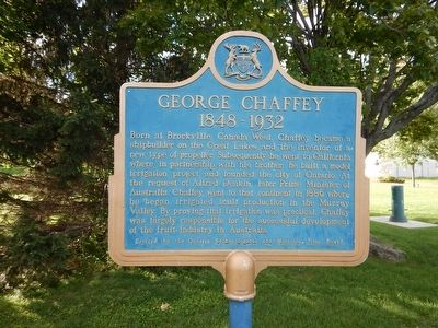 George Chaffey Marker image. Click for full size.