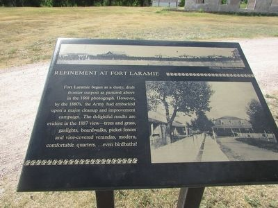 Refinement at Fort Laramie Marker image. Click for full size.